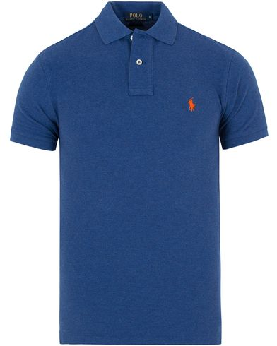 Polo Ralph Lauren Slim Fit Polo Beach Royal Blue i gruppen Kläder / Pikéer / Kortärmade pikéer hos Care of Carl (13199611r)