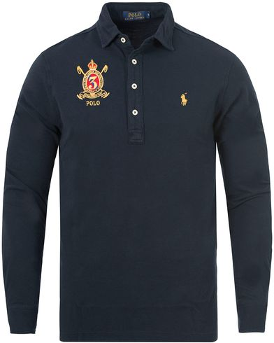 Polo Ralph Lauren Crest Long Sleeve Featherweight Polo Shirt Navy i gruppen Pikéer / Langermet piké hos Care of Carl (13199711r)