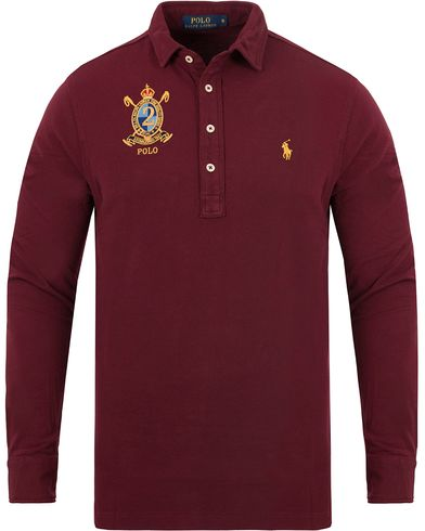 Polo Ralph Lauren Crest Long Sleeve Featherweight Polo Shirt Red i gruppen Pikéer / Långärmade pikéer hos Care of Carl (13199811r)