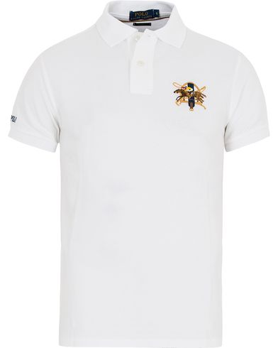 Polo Ralph Lauren Core Fit Crest Polo Shirt White i gruppen Kläder / Pikéer / Kortärmade pikéer hos Care of Carl (13200111r)