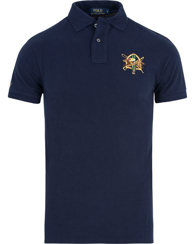 Polo Ralph Lauren Core Fit Crest Polo Shirt French Navy i gruppen Kläder / Pikéer / Kortärmade pikéer hos Care of Carl (13200211r)
