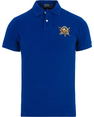 Polo Ralph Lauren Core Fit Crest Polo Shirt Heritage Royal i gruppen Pikéer / Kortärmade pikéer hos Care of Carl (13200311r)