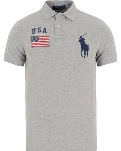 Polo Ralph Lauren Core Fit USA Polo Andover Heather i gruppen Klær / Pikéer / Kortermet piké hos Care of Carl (13200411r)
