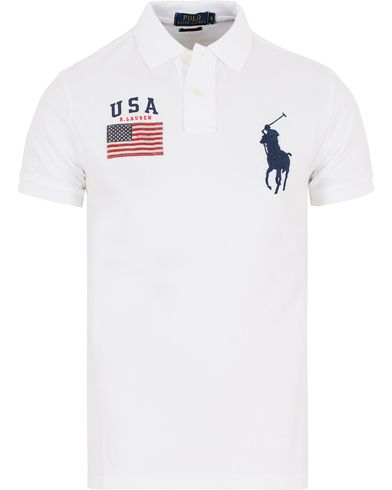 Polo Ralph Lauren Core Fit USA Polo White i gruppen Pik�er / Kortermet Pik� hos Care of Carl (13200511r)