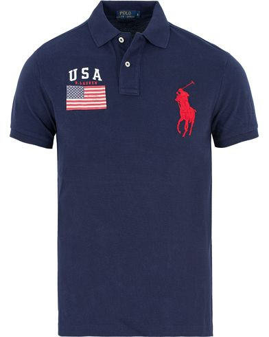 Polo Ralph Lauren Core Fit USA Polo French Navy i gruppen Pikéer / Kortermet piké hos Care of Carl (13200611r)