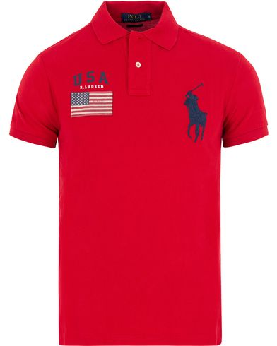 Polo Ralph Lauren Core Fit USA Polo RL Red i gruppen Pikéer / Kortärmade pikéer hos Care of Carl (13200711r)