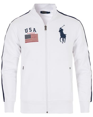 Polo Ralph Lauren USA Track Jacket White i gruppen Tröjor / Zip-tröjor hos Care of Carl (13201011r)