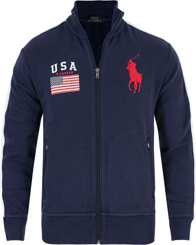Polo Ralph Lauren USA Track Jacket French Navy i gruppen Kläder / Tröjor / Zip-tröjor hos Care of Carl (13201111r)