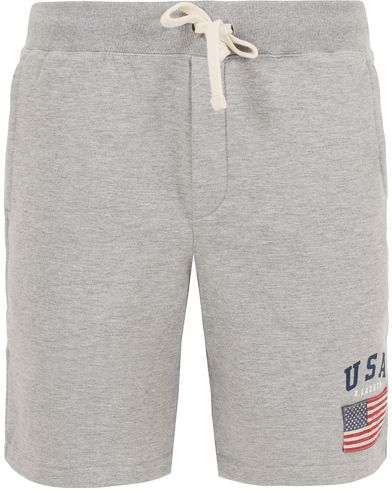 Polo Ralph Lauren USA Short Sweatpants Andover Heather i gruppen Klær / Shorts / Treningsshorts hos Care of Carl (13201311r)