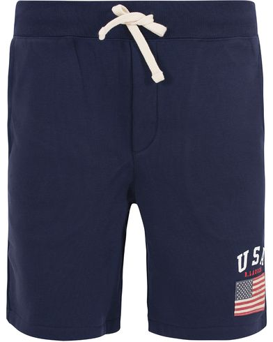 Polo Ralph Lauren USA Short Sweatpants French Navy i gruppen Klær / Shorts / Treningsshorts hos Care of Carl (13201411r)