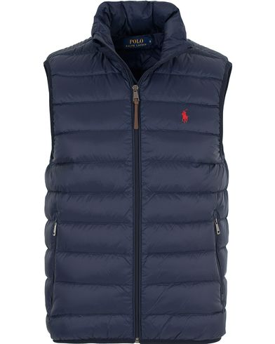 Polo Ralph Lauren Lighweight Vest Aviator Navy i gruppen Jackor / Yttervästar hos Care of Carl (13202111r)