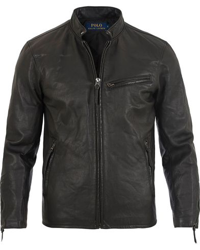 Polo Ralph Lauren Racer Leather Jacket Polo Black i gruppen Jackor / Skinnjackor hos Care of Carl (13202411r)