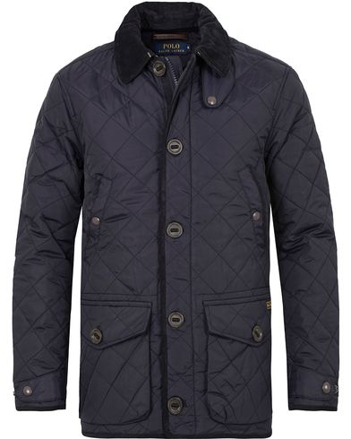 Polo Ralph Lauren Quilted Carcoat Navy i gruppen Jackor / Quiltade jackor hos Care of Carl (13203011r)