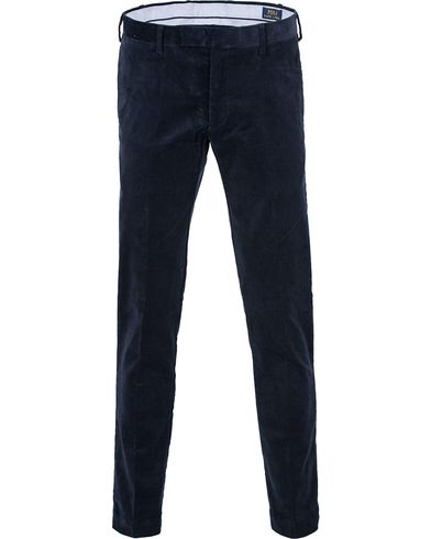 Polo Ralph Lauren Hudson Slim Fit Corduroy Pants Worth Navy i gruppen Bukser / Cordfløyelbukse hos Care of Carl (13203211r)