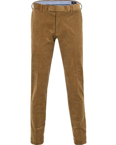 Polo Ralph Lauren Hudson Slim Fit Corduroy Pants Rustic Tan i gruppen Kläder / Byxor / Manchesterbyxor hos Care of Carl (13203311r)