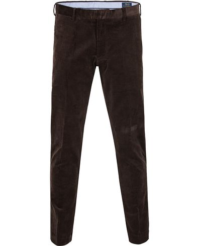 Polo Ralph Lauren Hudson Slim Fit Corduroy Pants Worth Brown i gruppen Bukser / Cordfløyelbukse hos Care of Carl (13203411r)