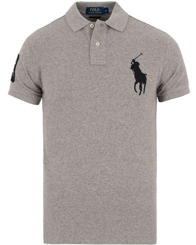 Polo Ralph Lauren Slim Fit Big Pony Polo Dark Vintage Heather i gruppen Kläder / Pikéer / Kortärmade pikéer hos Care of Carl (13205311r)