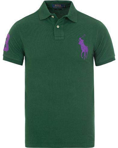 Polo Ralph Lauren Slim Fit Big Pony Polo Holiday Green i gruppen Pik�er / Kort�rmad Pik� hos Care of Carl (13205411r)