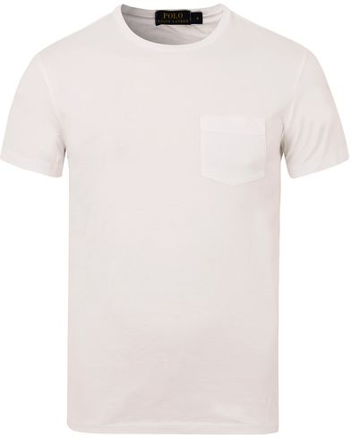 Polo Ralph Lauren Luxury Jersey Pocket Tee White i gruppen Kläder / T-Shirts / Kortärmade t-shirts hos Care of Carl (13205611r)