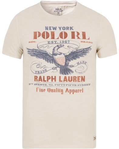 Polo Ralph Lauren Eagle USA Tee Antique Cream i gruppen T-Shirts / Kortärmade t-shirts hos Care of Carl (13206011r)