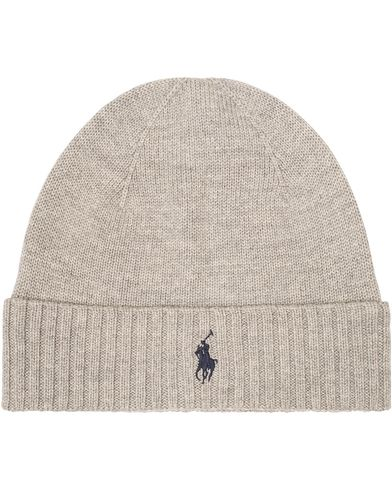 Polo Ralph Lauren Merino Cap Fawn Grey Heather  i gruppen Accessoarer / Mössor hos Care of Carl (13206310)