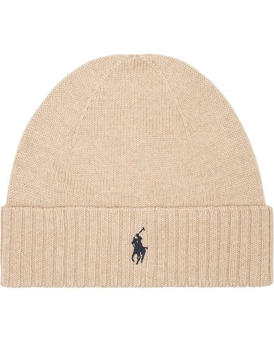Polo Ralph Lauren Merino Cap Oatmeal Heather  i gruppen Assesoarer / Luer hos Care of Carl (13206510)