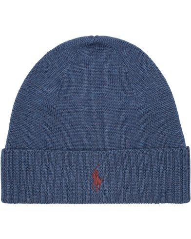 Polo Ralph Lauren Merino Cap Shale Blue Heather  i gruppen Design B / Accessoarer / Mössor hos Care of Carl (13206610)