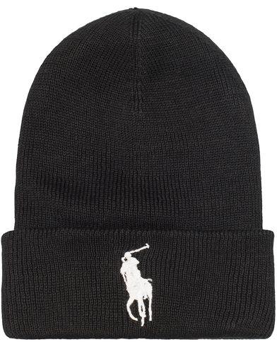 Polo Ralph Lauren Big Pony Merino Cap Polo Black/White  i gruppen Assesoarer / Luer hos Care of Carl (13206910)
