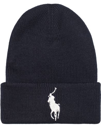 Polo Ralph Lauren Big Pony Merino Cap Newport Navy/White  i gruppen Accessoarer / Mössor hos Care of Carl (13207010)