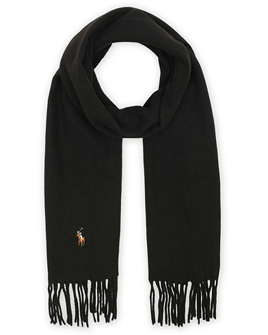 Polo Ralph Lauren Signature Scarf Black  i gruppen Assesoarer / Skjerf hos Care of Carl (13207310)