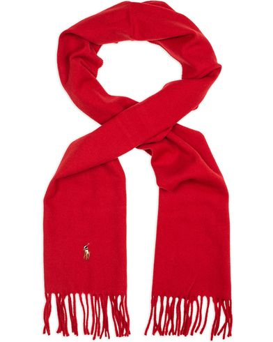 Polo Ralph Lauren Signature Scarf Carrier Red  i gruppen Assesoarer / Skjerf hos Care of Carl (13207510)