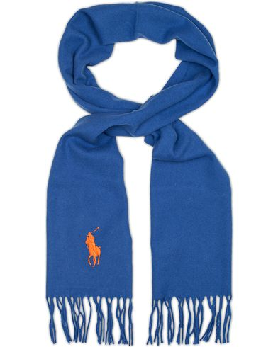 Polo Ralph Lauren Big Pony Jaquard Scarf Light Blue  i gruppen Assesoarer / Skjerf hos Care of Carl (13207910)