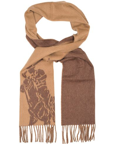 Polo Ralph Lauren Doublefaced Big Pony Scarf Rye Brown  i gruppen Assesoarer / Skjerf hos Care of Carl (13208110)