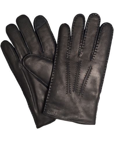 Polo Ralph Lauren Cashmere Lined Leather Touch Glove Black i gruppen Sesongens n�kkelplagg / Hanskene til spaserturen hos Care of Carl (13208211r)
