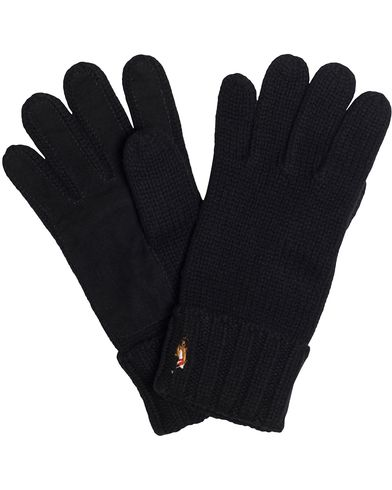 Polo Ralph Lauren Signature Merino Suede Glove Polo Black  i gruppen Assesoarer / Hansker hos Care of Carl (13208310)