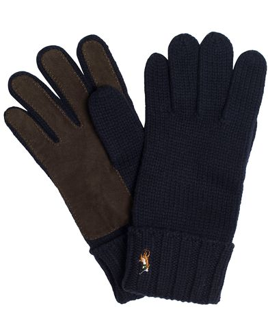 Polo Ralph Lauren Signature Merino Suede Glove Hunter Navy  i gruppen Accessoarer / Handskar hos Care of Carl (13208410)