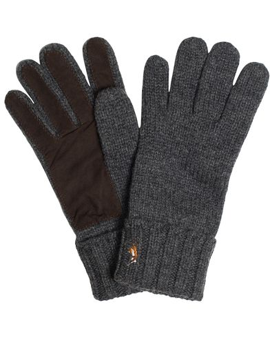 Polo Ralph Lauren Signature Merino Suede Glove Madison Grey  i gruppen Design A / Assesoarer / Hansker hos Care of Carl (13208510)
