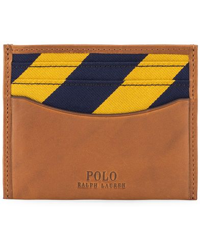 Polo Ralph Lauren Leather Credit Card Holder Cuoio Brown  i gruppen Design B / Accessoarer / Plånböcker hos Care of Carl (13208910)