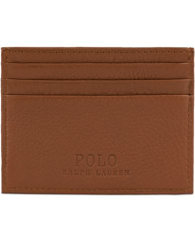 Polo Ralph Lauren Leather Credit Card Holder Cuoio Brown  i gruppen Assesoarer / Lommebøker / Kortholdere hos Care of Carl (13209110)