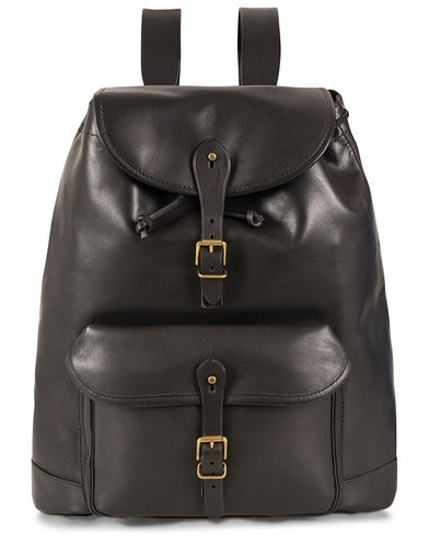 Polo Ralph Lauren Leather Backpack Black  i gruppen Vesker / Ryggsekker hos Care of Carl (13209410)