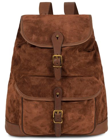 Polo Ralph Lauren Suede Backpack Brown  i gruppen Vesker / Ryggsekker hos Care of Carl (13209510)