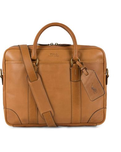 Polo Ralph Lauren Commuter Leather Bag Cognac  i gruppen Vesker / Dokumentvesker hos Care of Carl (13209710)