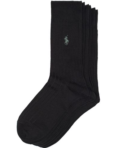 Polo Ralph Lauren 3-Pack Egyptian Cotton Sock Black i gruppen Underkläder / Strumpor / Vanliga strumpor hos Care of Carl (13209811r)