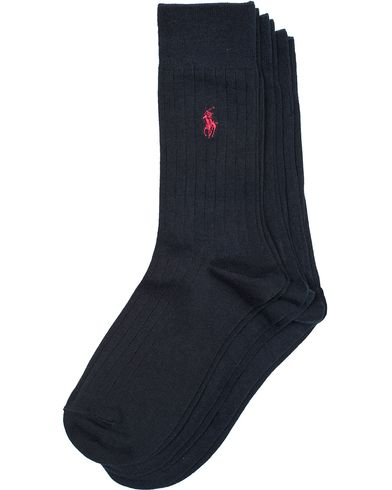 Polo Ralph Lauren 3-Pack Egyptian Cotton Sock Navy i gruppen Underkläder / Strumpor / Vanliga strumpor hos Care of Carl (13209911r)