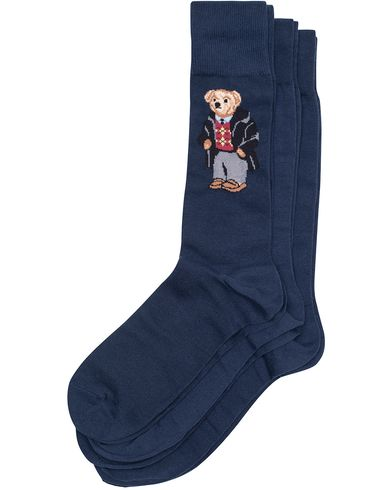 Polo Ralph Lauren 3-Pack Polo Bear Cotton Sock Navy  i gruppen Underkläder / Strumpor / Vanliga strumpor hos Care of Carl (13210110)