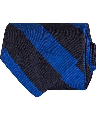 Polo Ralph Lauren English Repp Stripes Club Tie Navy/Royal  i gruppen Design A / Assesoarer / Slips hos Care of Carl (13210710)