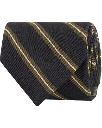Polo Ralph Lauren Washed Repps Tie Black/Olive  i gruppen Assesoarer / Slips hos Care of Carl (13211110)