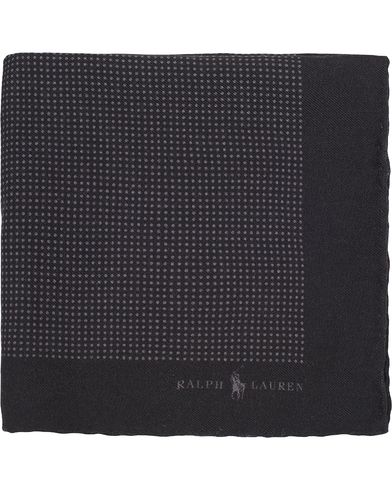 Polo Ralph Lauren Textured Woolen Print Dot Pocket Square Black/Grey  i gruppen Assesoarer / Lommetørklær hos Care of Carl (13211510)