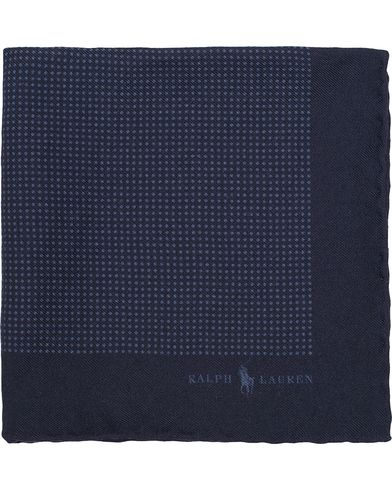Polo Ralph Lauren Textured Woolen Print Dot Pocket Square Navy/Blue  i gruppen Accessoarer / Näsdukar hos Care of Carl (13211610)