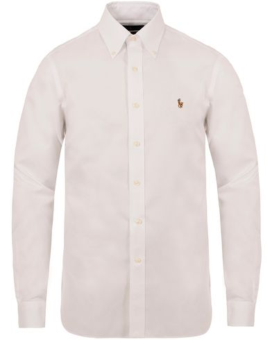 Polo Ralph Lauren Slim Fit Button Down Shirt White i gruppen Skjortor / Formella skjortor hos Care of Carl (13213111r)